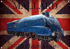Mallard,Lner,Class A4,Train,Vintage,Classic, Metal Sign,Enamel,No.556