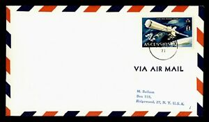 DR WHO 1971 ASCENSION AIRMAIL TO USA SPACE  g20375