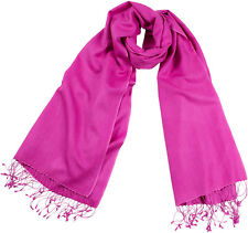 Pashmina Stola Pink Schal 70% Cashmere 30%Seide silk stole 56x182cm