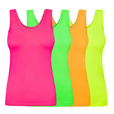 Assoluta Damen Sport Tank Top Shirt in neon Farben grün orange pink gelb schwarz
