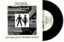 "DAVE STEWART - WHAT BECOMES OF THE BROKEN HEARTED - 7"" 45 RECORD PIC SLV 1980"
