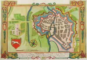 HANNOVER NIEDERSACHSEN KOL. KUPFERSTICH ANSICHT BALDWYN 1794 ENGRAVING