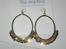Shimmering Gold Droplets - Rv $32 Lia Sophia Tinsel Town Earrings -