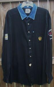 Men's Panhandle Slim Rough Stock Size XXL Western Cowboy Rodeo Patch Shirt