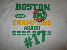 Boston Celtics RAY ALLEN KEVIN GARNETT PAUL PIERCE Champions Again! (XL) T-Shirt