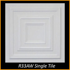 Ceiling Tiles Styrofoam Glue Up 20x20 R33 Ultra Pure White Painted SUPER SALE