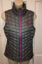 2a64ab44453e Womens XS North Face Standard Fit Thermoball Vest - RTO Mid Gray violet Pink