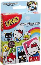 Hello Kitty UNO Sanrio My Melody Bad-Batsumaru Kerokero Keroppi Game New