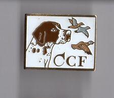 pin's Club de Chasse CCF (chien épagneul - oiseaux)