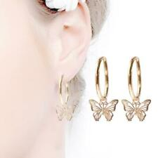 A Pair/set Fashion Butterfly Drop Earrings Women Rose Gold Plated Jewelry