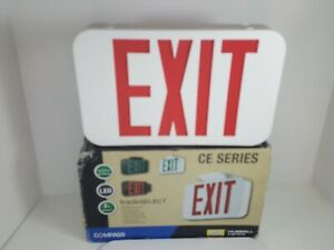Hubbell Lighting Compass CC Series LED Exit Sign / Emergency Light