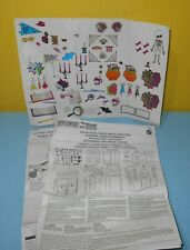 Monster High Replacement Fold Up High School Playset Stickers Instructions