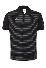 adidas Men's Real Madrid Black/White 3 Button Polo Shirt Size Small G83099