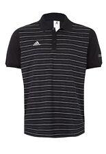 Adidas Para Hombre Real Madrid Negro/Blanco 3 Botón Camisa Polo Tamaño Pequeño G83099