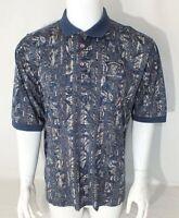 Nike Golf VTG Polo Shirt Floral Camo Print Short Sleeve Medium Countryside Club