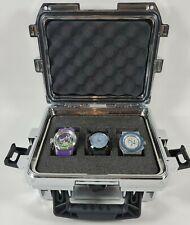 Lot Of 3 Invicta Watches Quartz Limited Edition Silver 3 Slot Storage Case