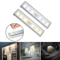 PIR Motion Sensor Activated Light Strip Wardrobe Cabinet Closet LED Lamp Battery