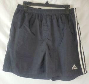 Vintage Adidas Women's Size Large Black Nylon Shorts Drawstring elastic