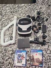 Sony PlayStation 4 Ps4 VR 2 Game Bundle with Aim Gun