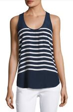 Joie Rain B Striped Silk Tank, NWT, Blue Multi Medium MSRP