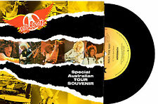 "AEROSMITH - WALK THIS WAY - RARE OZ ONLY EP TOUR SOUVENIR 7"" 45 RECORD PIC SLV"