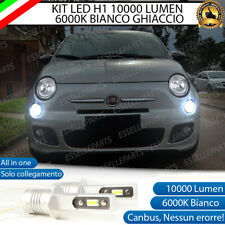 KIT LED H1 ABBAGLIANTE FIAT ABARTH 500 500C 10000 LUMEN 6000K CANBUS ALL IN ONE