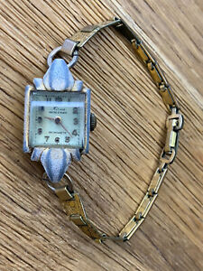 Vintage Antique Rare Mirca Ladies Rolled Gold Watch Ancre 15 Rubis