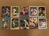 TOM GLAVINE 10 CARD LOT STADIUM FLEER UPPER DECK TOPPS DONRUSS ATLANTA BRAVES