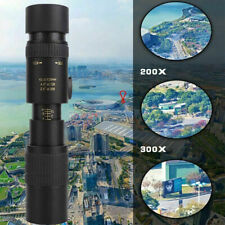 4k 10-300x40mm Monocular Set Super Telephoto Zoom Telescope with Tripod and Clip