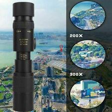 4K 10-300X40mm Super Telephoto Zoom Monocular Telescope W/ Tripod & Phone Clip