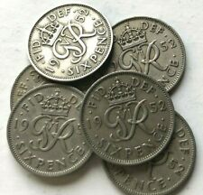 More details for 1952 george vi sixpence, scarce date, the key date to the series - multiple list