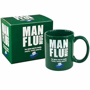 MAN FLU MUG -GIFT JOKE TEA ,COFFE FUN FOR WHEN YOU'RE REALLY POORLY