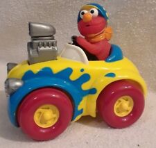 Tyco 1998 Elmo Push Down On The Engine & Go Hot Rod Race Car - Sesame Street