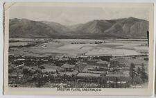1954 Creston Flats British Columbia Aerial real photo postcard RPPC