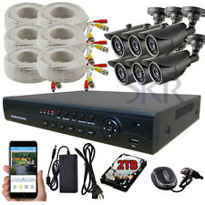Sikker 6 CH 1080P High Definition DVR AHD 2 Megapixel Security Camera System 2TB