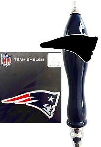 New England Patriots Emblem & Beer Tap Handle knob for Kegerator Faucet kit