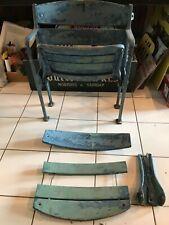 Original Ny Yankees Stadium Box Seat Parts Wood & Steel Unrestored stamped 3430