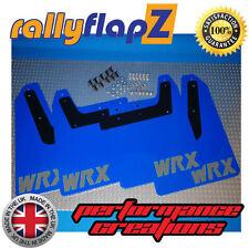rallyflapZ SUBARU IMPREZA Hawkeye (01-07) Mud Flaps WR Blue WRX Silver 4mm PVC