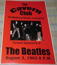 BEATLES CAVERN CLUB 68 FAREWELL APPEARANCE REPLICA CONCERT POSTER