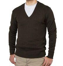 Mens Ladies Czech Army Wool Jumper VNeck Thermal Genuine Surplus Sweater