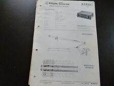 Original Service Manual Car Radio Philips n3w24t Jeep