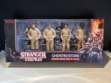 Stranger Things Ghostbusters 4 Figure Set McFarlane Mike Dustin Will Lucas