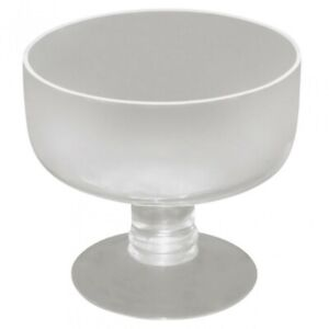 14cm Round Large Glass Bowl on Pedestal, Desserts, Table Setting, Candle Making-