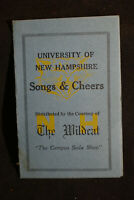 VINTAGE University of New Hampshire Songs & Cheers