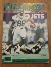NFL Game Day Cleveland Browns Vs New York Jets September 11, 1980 Program