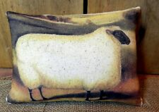 PRIMITIVE~ FOLK ART~ Sheep Pillow