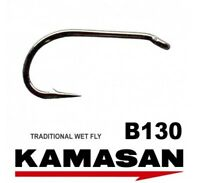 Kamasan B130 Traditional Wet Fly Tying Game Fishing Hooks All Sizes Available