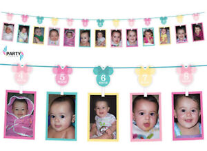 Minnie Mouse 1st Birthday Party Supplies Decorations PHOTO GARLAND