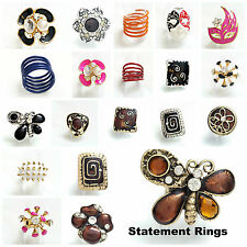 Mixed Metals Cubic Zirconia Band Costume Rings