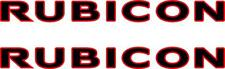 2 RUBICON DECALS FOR WRANGLER TWO COLORS HOOD Stickers Car Truck